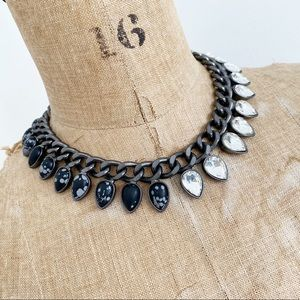 COCOA jewelry bold grey spike necklace.